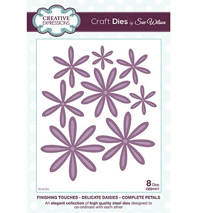 Creative Expressions - Die - The Finishing Touches Collection - Delicate Daisies Complete Petals