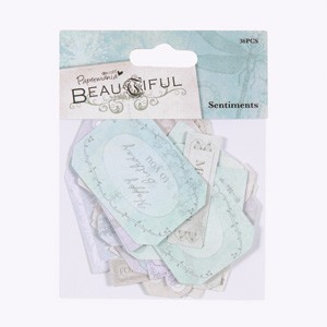 Papermania - Labels: Beautiful Sentiments