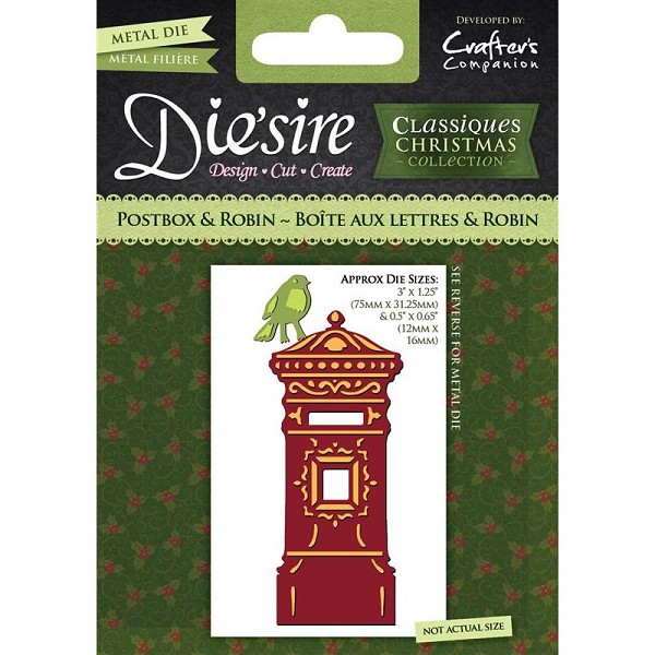 Die`sire - Die - Classiques - Christmas Collection - Postbox & Robin - DS-CX-PROB