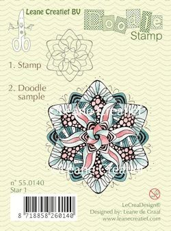 Leane Creatief - Clearstamp - Doodle - Star 1 - 55.0140