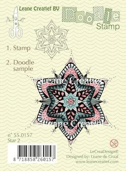 Leane Creatief - Clearstamp - Doodle - Star 2 - 55.0157