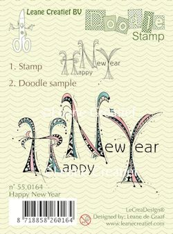 Leane Creatief - Clearstamp - Doodle - Happy New Year - 55.0164