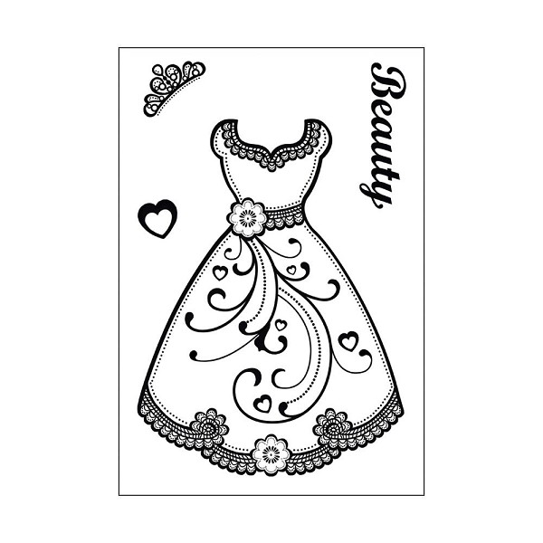 Hot off the press - Clearstamp - Fancy Dress - HOTP-1086