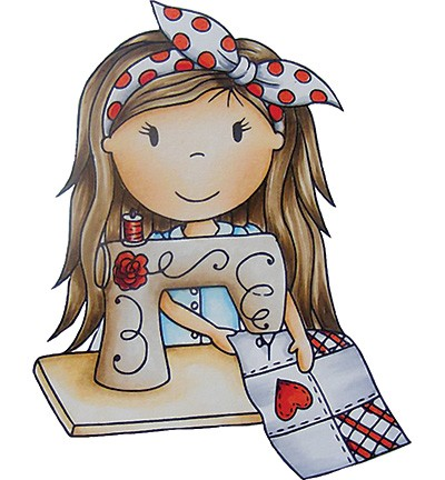 Paper Nested Dolls - Cling Stamp - Sewing Ellie - 70053