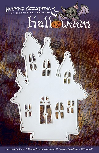 Card Deco - Yvonne Creations - Die - Halloween - Haunted House