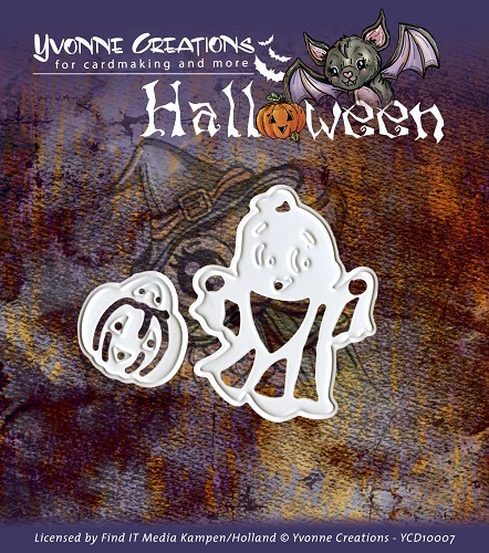 Card Deco - Yvonne Creations - Die - Halloween - Little ghost