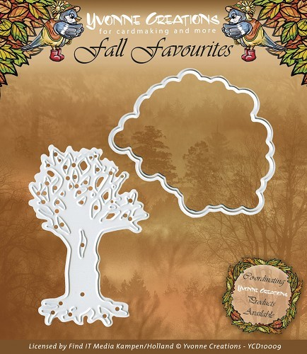 Yvonne Creations - Die - Fall Favourites - Seasonal Tree