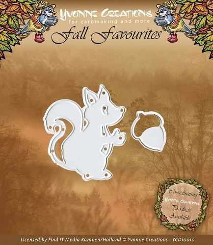 Card Deco - Yvonne Creations - Die - Fall Favourites - Squirrel