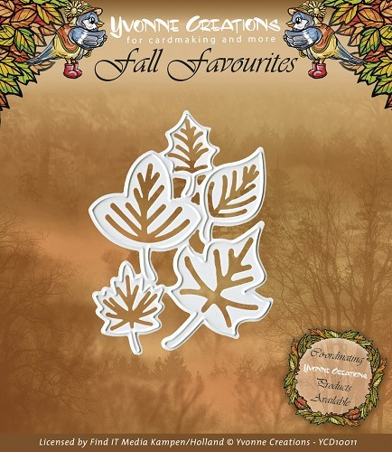 Card Deco - Yvonne Creations - Die - Fall Favourites - Leaves