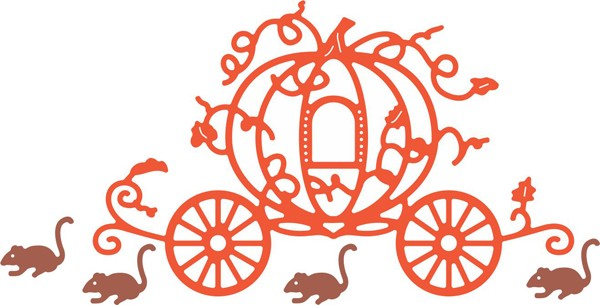 Cheery Lynn Design - Die - Pumpkin Carriage with Mice - B471