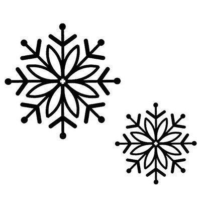 Creative Expressions - Cling Stamp - Singles - Bold Snowflake - UMS168
