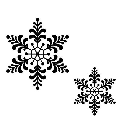 Creative Expressions - Cling Stamp - Singles - Feathery Snowflake - UMS167
