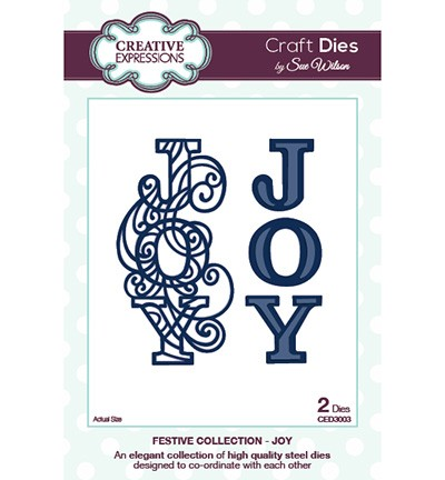 Creative Expressions - Die - The Festive Collection - Joy
