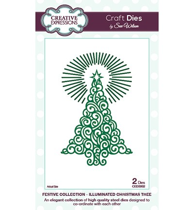 Creative Expressions - Die - The Festive Collection - Illuminated Christmas Tree