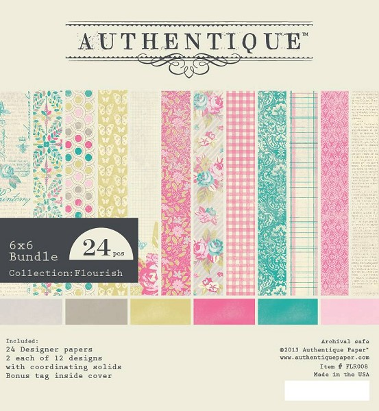 Authentique - Paperpack - Collection: Flourish - FLR008