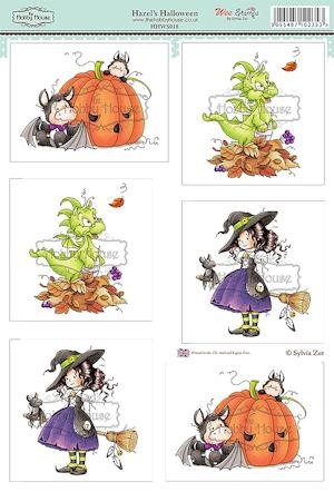 The Hobby House - Wee Stamps - (3D-)Stansvel A4 - Hazel`s Halloween - HHWS018