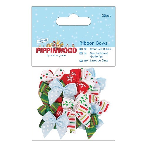 Papermania - Strikken / bows - Pippinwood Christmas - PMA367242
