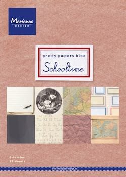 Marianne Design - Paperpack - Pretty Papers - Schooltime - PK9118