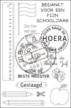 Marianne Design - Clearstamp - School (NL) - CS0909