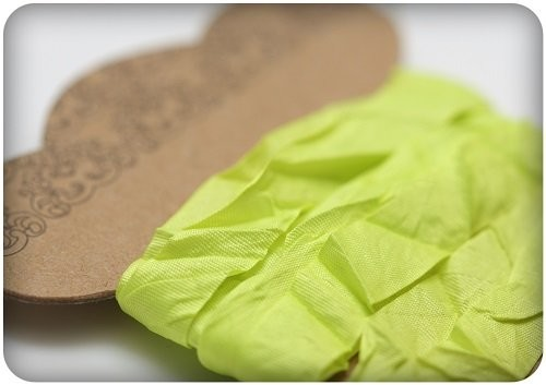 ScrapBerry`s - Shabby Ribbon: Lime - SCB510116