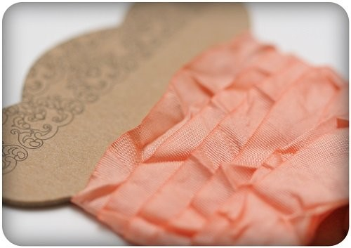 ScrapBerry`s - Shabby Ribbon: Peach - SCB510109