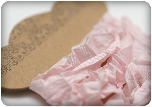 ScrapBerry`s - Shabby Ribbon: Light Pink - SCB510105
