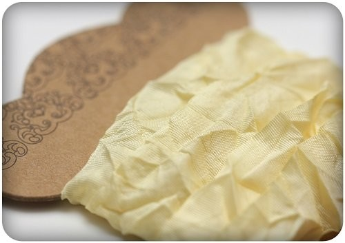 ScrapBerry`s Shabby Ribbon - Light Yellow