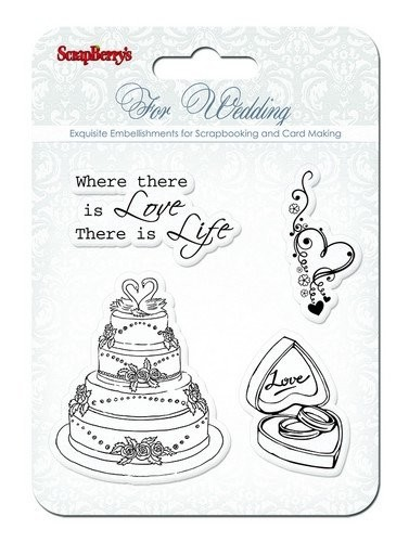 ScrapBerry`s - Clearstamp - Wedding - SCB4901011b