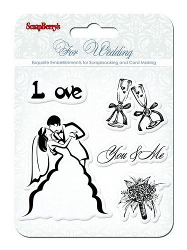 ScrapBerry`s - Clearstamp - Wedding - You & Me - SCB4901010b
