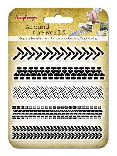 ScrapBerry`s - Clearstamp - Around The World - Traces - SCB4901009