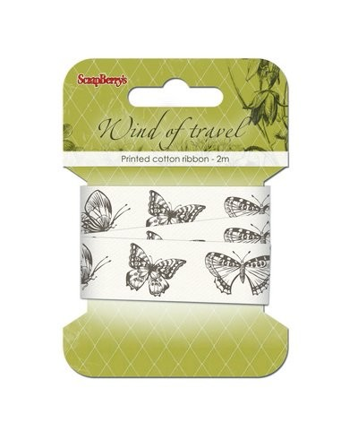 ScrapBerry`s - Printed Decorative Ribbon - Wind of Travel - SCB390402