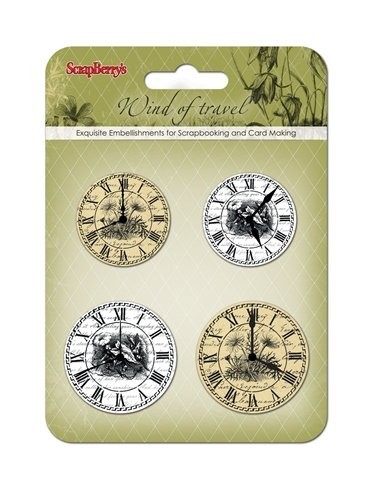 ScrapBerry`s - Embellishments - Wind of Travel - Clock - SCB34001072