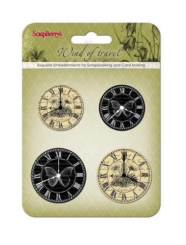 ScrapBerry`s - Embellishments - Wind of Travel - Clock - SCB34001071