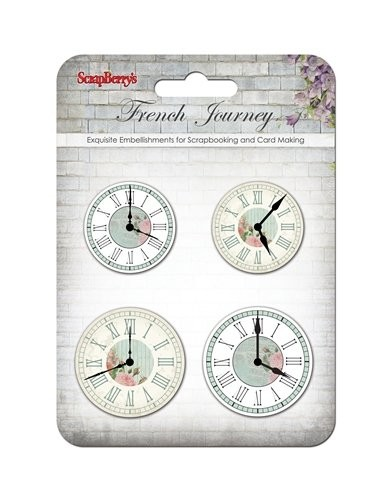 ScrapBerry`s - Embellishments - French Journey - Clock - SCB34001070