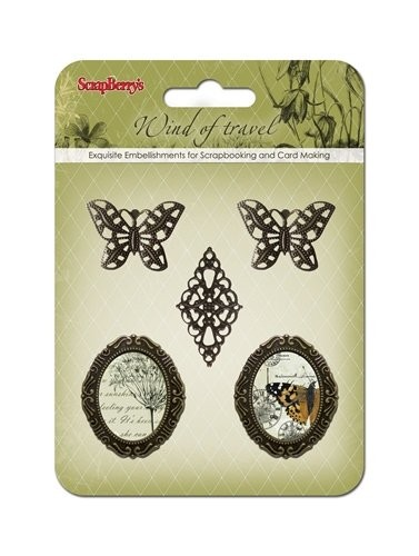 ScrapBerry`s - Embellishments - Wind Of Travel - Metal Frames - SCB34001063