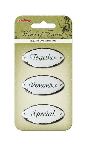 ScrapBerry`s - Embellishments - Wind Of Travel - Metal Frames - SCB34001060