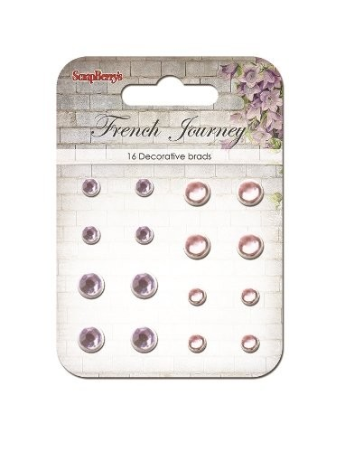 ScrapBerry`s - Brads - French Journey - Lilac Pink - SCB34001049