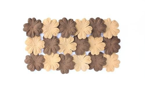 ScrapBerry`s - Mulberry Paper Flowers: Brown & Safari - SCB300810