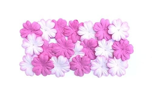 ScrapBerry`s - Mulberry Paper Flowers - Shades Of Pink - SCB300809