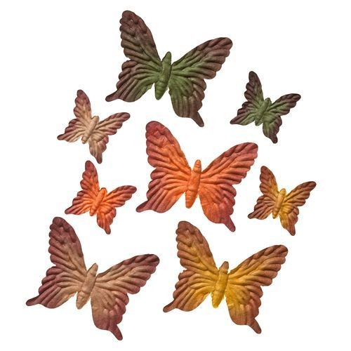 ScrapBerry`s - Mulberry Paper - Butterflies sets: Green & Yellow - SCB300703