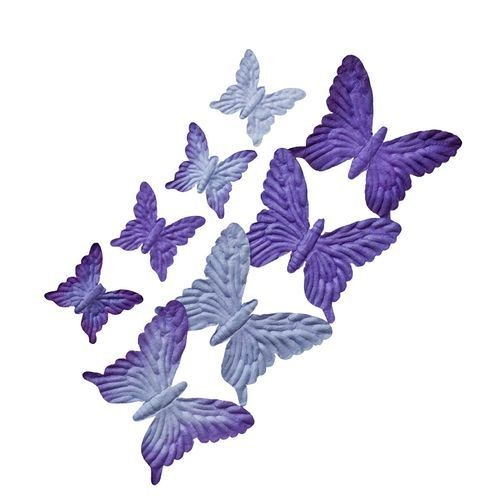 ScrapBerry`s - Mulberry Paper - Butterflies set: Purples - SCB300702