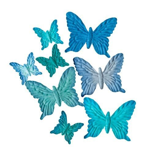 ScrapBerry`s - Mulberry Paper - Butterflies set: Pastel Blue - SCB300701