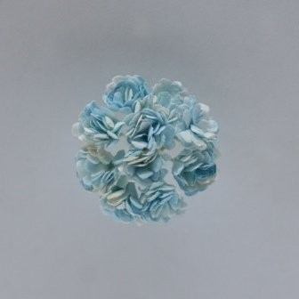 ScrapBerry`s - Paper Flowers - Chrysanthemum: Light Blue - SCB291402