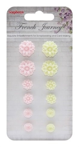 ScrapBerry`s - Embellishments - French Journey 2 - Chrysanthemums - SCB250001093