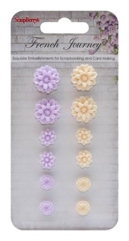 ScrapBerry`s - Embellishments - French Journey 1 - Chrysanthemums  - SCB250001092