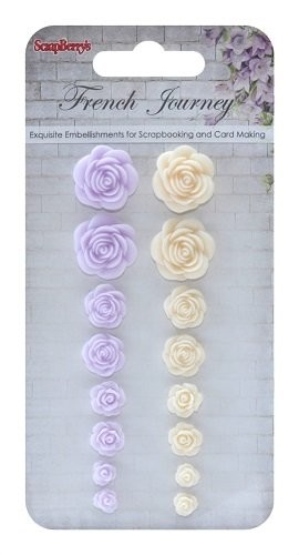 ScrapBerry`s - Embellishments - French Journey 1 - Roses - SCB250001086