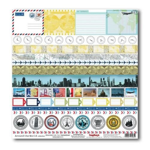 ScrapBerry`s - Scrapbook Papier - Souvenirs To Remember - SCB220601815