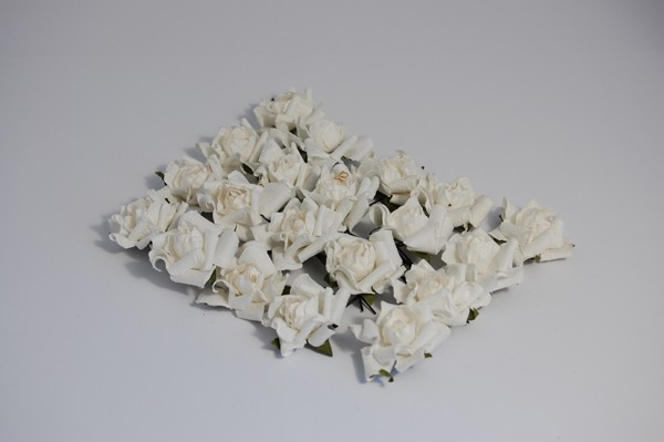 Crafts-Too - Bloemen - Bridal - Paper Rose Heads: White - 81963WH