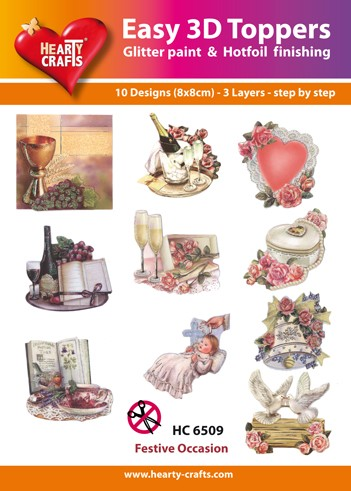 Hearty Crafts - Easy 3D Toppers - Festive Occassions - HC6509