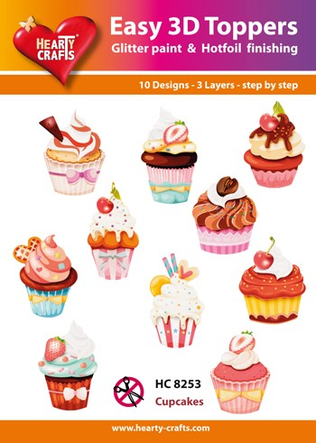 Hearty Crafts - Easy 3D Toppers - Cupcakes - HC8253